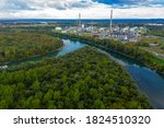 Industry On The Sava River In...