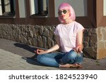 beautiful woman wearing... | Shutterstock . vector #1824523940