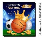 sport live betting creative... | Shutterstock .eps vector #1824531866