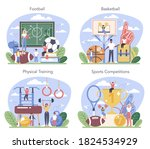 physical education or school... | Shutterstock .eps vector #1824534929
