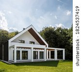 Modern White House With Stylis...
