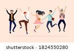 illustration happy dancing... | Shutterstock .eps vector #1824550280