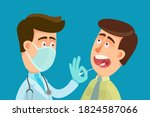 the doctor with medical mask on ... | Shutterstock .eps vector #1824587066