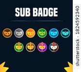 Twitch Sub Badge Design  Sub...