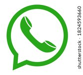 the messages icon on the call... | Shutterstock .eps vector #1824593660