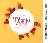 thanksgiving holiday sale... | Shutterstock .eps vector #1824620186