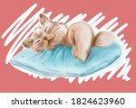 Illustration Of Cute Cat...