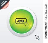 domain eu sign icon. top level...