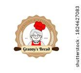 granny's bread logo for cafe or ... | Shutterstock .eps vector #1824627083