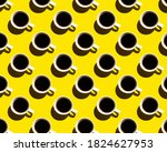 Pattern Of Coffee Cups With...