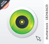 cd or dvd sign icon. compact...