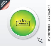 donate sign icon. euro eur...
