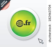domain fr sign icon. top level...