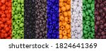Colorful Beads Background....