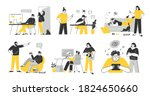 problems of relations between... | Shutterstock .eps vector #1824650660