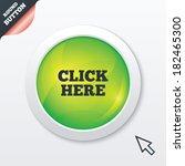 click here sign icon. press...