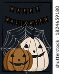 vector halloween greeting card... | Shutterstock .eps vector #1824659180