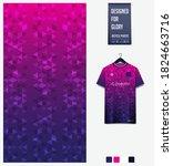 fabric pattern design. geometry ... | Shutterstock .eps vector #1824663716