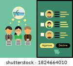 online leave request vs leave...   Shutterstock .eps vector #1824664010