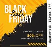 black friday sale brush sale... | Shutterstock .eps vector #1824664379