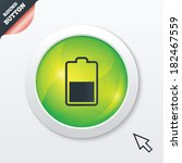 battery half level sign icon....
