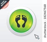 human footprint sign icon....