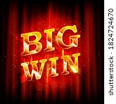big win banner for online... | Shutterstock .eps vector #1824724670
