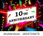 10 years. with the anniversary. ... | Shutterstock .eps vector #1824724673
