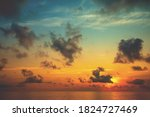 Colorful Cloudy Sky Over The...