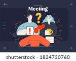 business topics  meeting  web... | Shutterstock .eps vector #1824730760