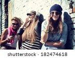 girls having fun together... | Shutterstock . vector #182474618