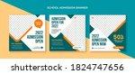 school admission social media... | Shutterstock .eps vector #1824747656