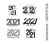 big set of 2021 text design... | Shutterstock .eps vector #1824757226