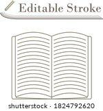 open book icon. editable stroke ...