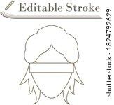 femida head icon. editable...
