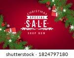 christmas social media promote...   Shutterstock .eps vector #1824797180