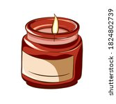 Decoration Candle Icon. Digital ...