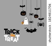 trick or treat typography... | Shutterstock .eps vector #1824811706
