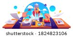 startup project launch ... | Shutterstock .eps vector #1824823106