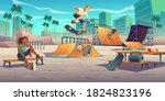 Teenagers In Skate Park ...