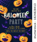 halloween party invitation ... | Shutterstock .eps vector #1824828413