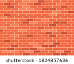 red brick wall background....   Shutterstock .eps vector #1824857636
