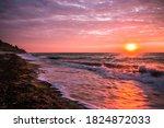 Beautiful Sunrise At The Sea On ...