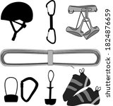 climbing gear equipment vector... | Shutterstock .eps vector #1824876659