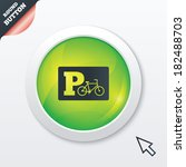 parking sign icon. bicycle...