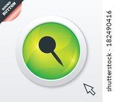 pushpin sign icon. pin button....