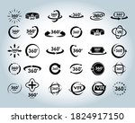 360 degrees view vector icons... | Shutterstock .eps vector #1824917150