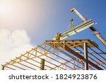 Mobile Crane Lifting Metal Roof ...