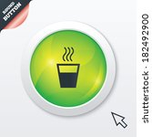 hot water sign icon. hot drink...