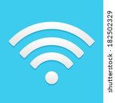 wireless network symbol  flat... | Shutterstock .eps vector #182502329